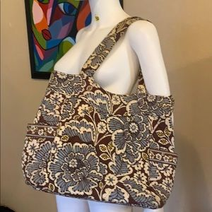 Brown blue VERA BRADLEY Bag Tote purse